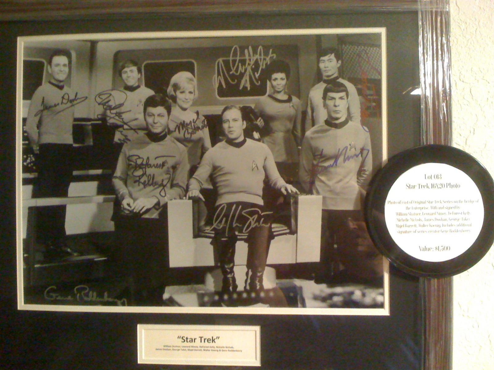 Star Trek TOS Autograph Photo